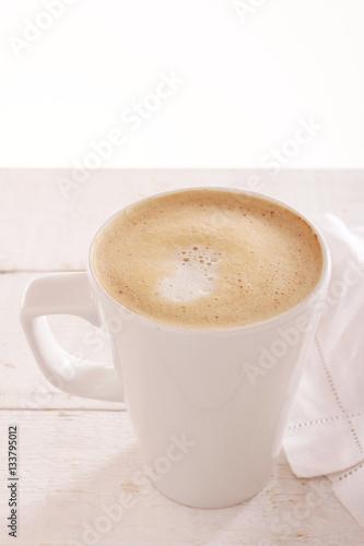 Poster mug of cappuccino coffee