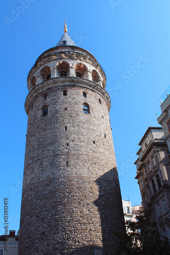 Poster Galata Tower in Istanbul, Turkey