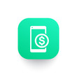 mobile banking icon, payment with smartphone symbol