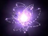 hi-tech tentacle robots around mystical light source. conceptual illustration.