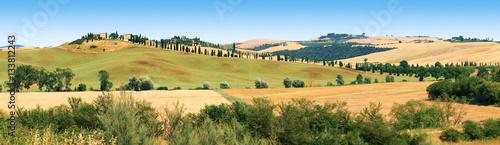 Keuken foto achterwand Toscane Paysage des environs de Sienne en Toscane