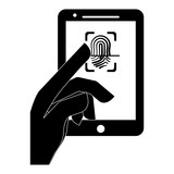 fingerprint security or safety related icons image vector illustration design