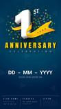 anniversary invitation card template design - 133818410