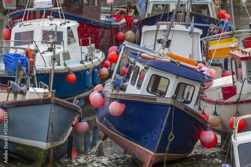 Poster Boote im Hafen von Mevagissey,Cornwall,England
