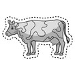 cow animal farm in the field vector illustration design