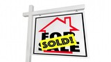 Sold Home for Sale House Real Estate Sign 3d Animation