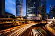 Car light trails and urban landscape in Hong Kong - 133851882