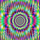 Psychedelic Meltdown / An abstract digital image with a psychedelic meltdown design in green, pink, blue, red, yellow and turquoise. - 133851869
