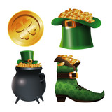 collection st patrick day traditional vector illustration eps 10