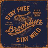 vintage brooklyn typography t-shirt graphics - 133868402