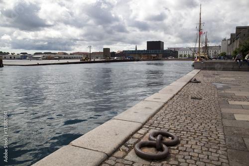 Poster Amelienborg Quay Copenhagen Harbour
