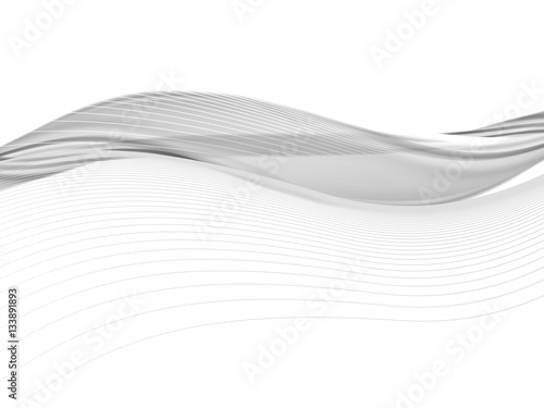 Staande foto Abstract wave abstract background, vector
