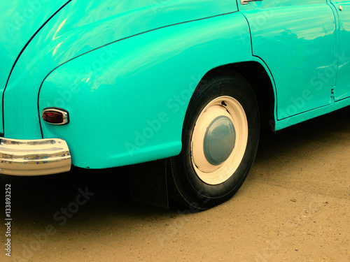 Old retro car on exhibition Poster