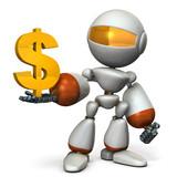 利益を表すアブストラクト3DCGイラスト