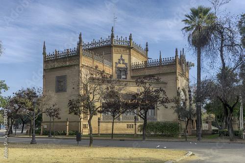 Foto Murales Pabellón Real del parque de María Luisa en la ciudad de Sevilla