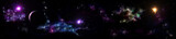 Fototapety Panorama of star clusters. planet against the background galaxies,
