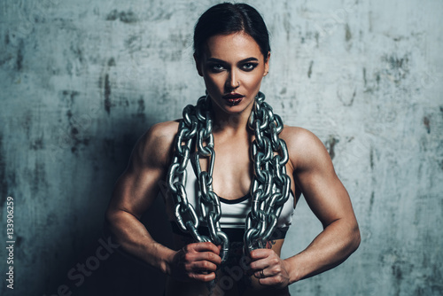 Poster Strong sports woman