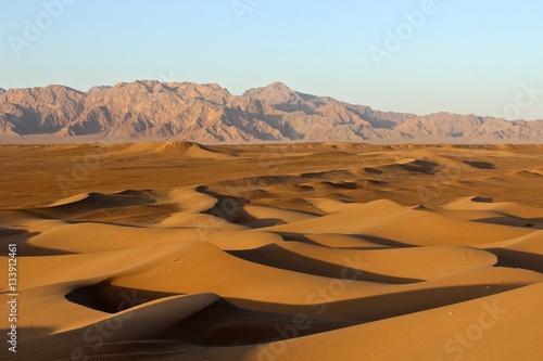 Poster Wüste bei Yazd Iran