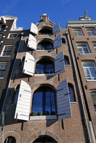 Poster Maisons à pignon à Amsterdam, Pays-Bas