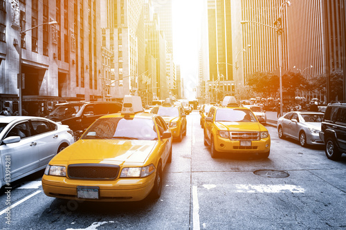 Foto op Canvas New York TAXI New York Taxi in the sunlight
