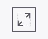 Expand Icon - Vector illustration. Minimal thin line design. - 133917250