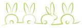 Osterhasen Hintergrund grün - 133925814
