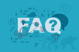 FAQ web page banner concept with thin line flat design - 133931065