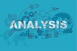 Analysis website banner concept with thin line flat design - 133932216