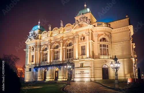 Juliusz Slowacki theater in Krakow Poland famous