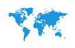 Political World Map vector Illustration.