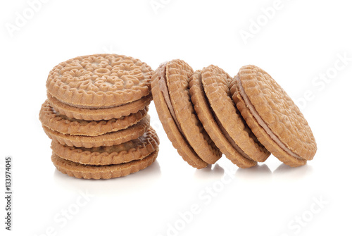 Poster pastry cookies isolated on white background