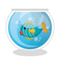 fish mascot in aquarium vector illustration design