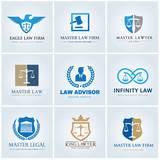 Law office logo collection. The judge, Law firm logo template, lawyer set of vintage labels. full vector logo and easy to edit able. - 133984824