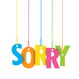 SORRY Vector Letters icon