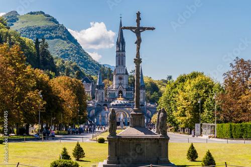 Lourdes, France, lieu de pèlerinage. Poster