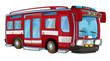 Cartoon firetruck - isolated - illustration for children