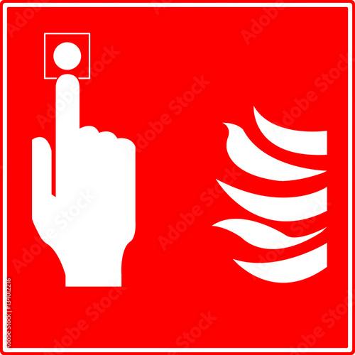 Poster Bouton alarme incendie