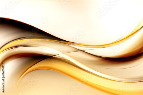 Brown jasne fale sztuki. Niewyraźne tło efekt. Streszczenie kreatywne projektowanie graficzne. Dekoracyjny fractal styl.