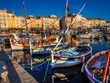 Saint Tropez harbor, the jet setting town of the French Riviera made famous by Brigitte Bardot.