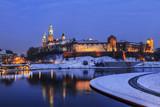 Royal Wawel Castle by night in Krakow, Poland