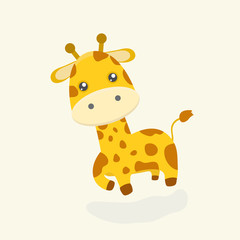Cute giraffe cartoon.
