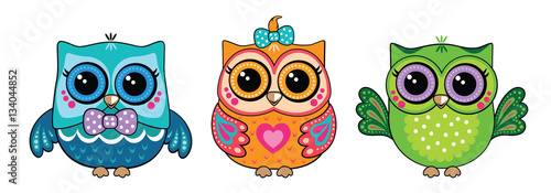 Fotobehang Uilen cartoon Cute owl