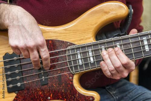 Poster Bass Guitar Player