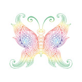 Hand drawn doodle butterfly