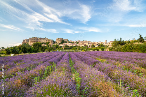 Papiers peints Lavande Saignon village, Provence, France