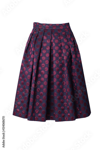 Poster Retro skirt isolated on white background