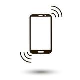 Smartphone vibrate icon vector
