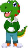 funny dinosaur cartoon standing