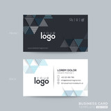 Blue and Black Triangle modern business card design