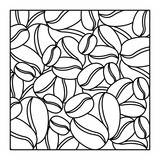 pattern square shape with coffee beans vector illustration - 134079242